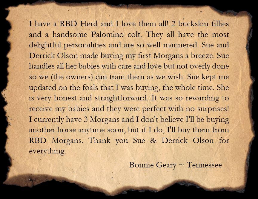 Testimonial Bonnie
