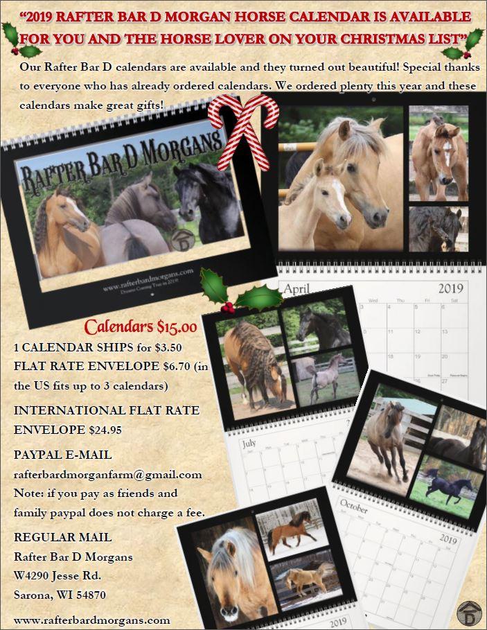 2019 Calendar flyer